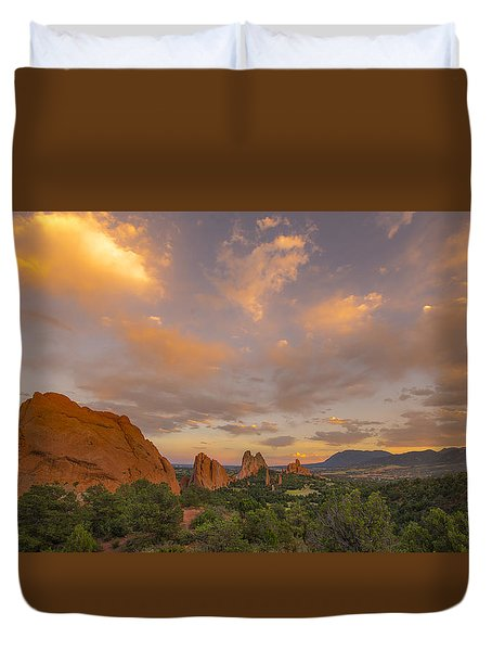 Beautiful Earth And Sky Duvet Cover