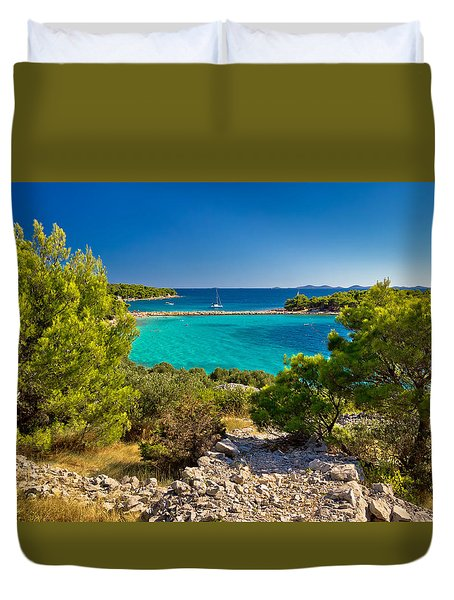 Beautiful Emerald Beach On Murter Island Duvet Cover by Brch Photography