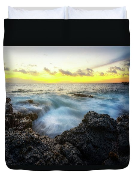 Duvet Cover featuring the photograph Beautiful Ending by Ryan Manuel