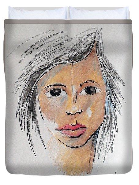 Beautiful Face 68 Duvet Cover