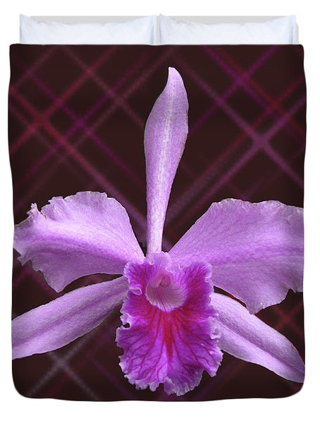 Duvet Cover featuring the photograph Beautiful Floating Orchid by Donna Brown