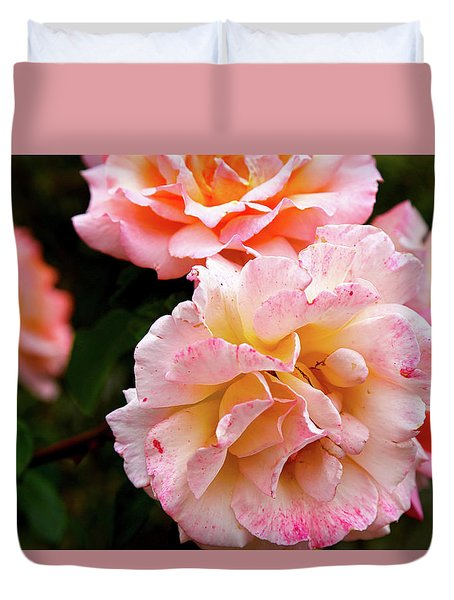 Beautiful Flowers In Cambridge Duvet Cover