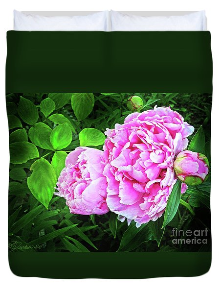 Beautiful Garden Peony Duvet Cover by Patricia L Davidson