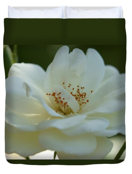Beautiful White Rose Duvet Cover