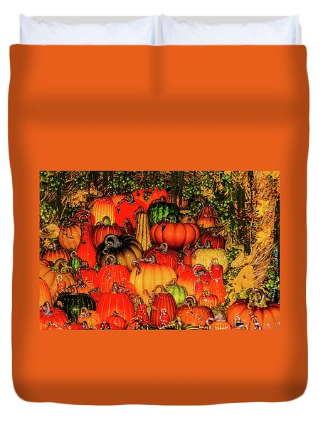 Beautiful Glass Pumpkins Duvet Cover