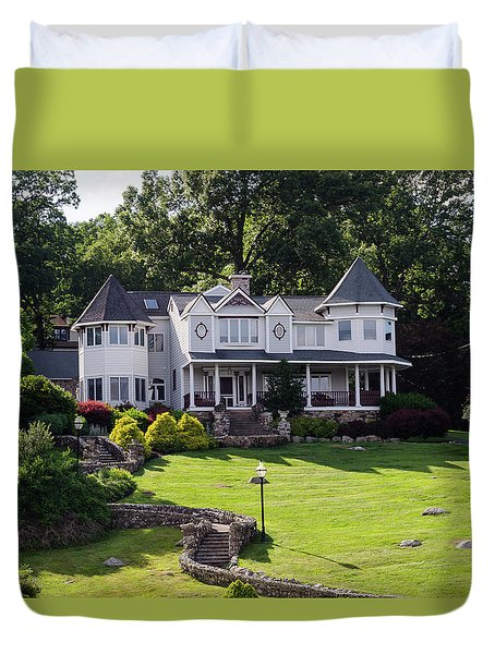 Beautiful Home On Lake Hopatcong Duvet Cover
