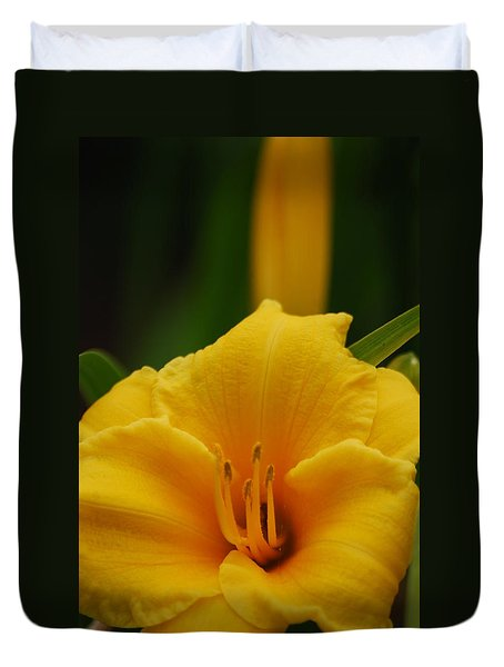 Duvet Cover featuring the photograph Beautiful In Yellow by Ramona Whiteaker
