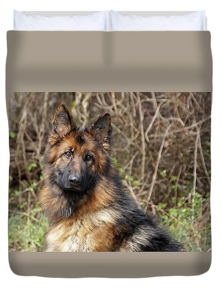 Duvet Cover featuring the photograph Beautiful Jessy by Sandy Keeton