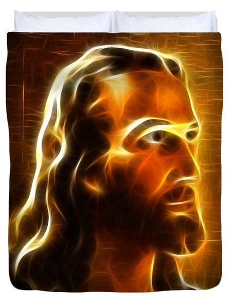 Beautiful Jesus Portrait Duvet Cover