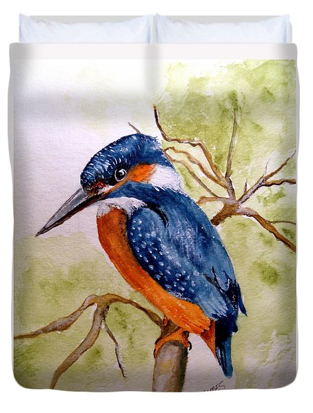 Beautiful Kingfisher Duvet Cover