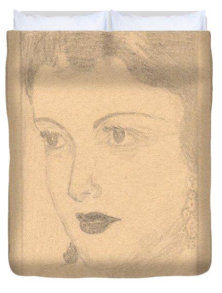 Beautiful Lady Face Duvet Cover