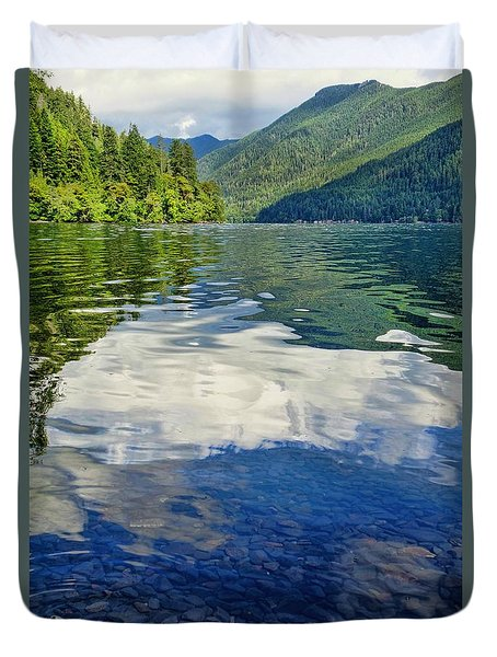 Duvet Cover featuring the photograph Beautiful Lake Crescent Washington by Dan Sproul