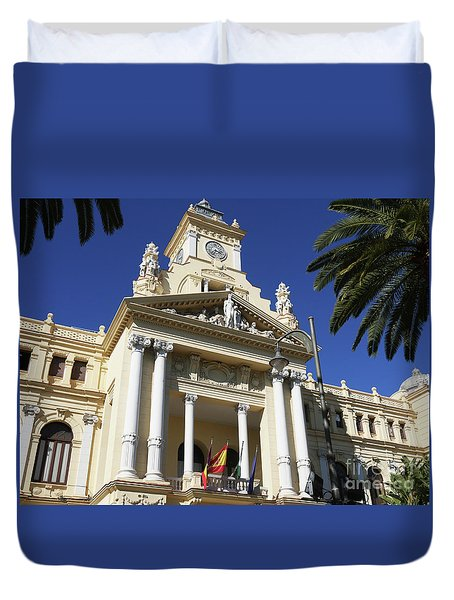 Beautiful Malaga City Hall Duvet Cover