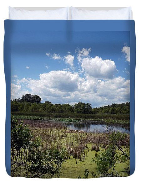 Beautiful Marsh View Duvet Cover
