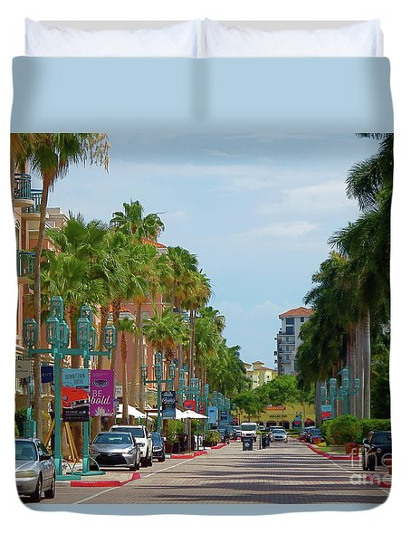 Beautiful Mizner Park In Boca Raton, Florida. #10 Duvet Cover