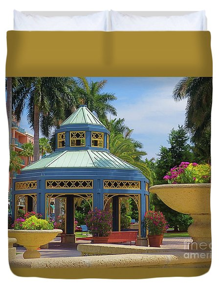 Beautiful Mizner Park In Boca Raton, Florida. #2  Duvet Cover