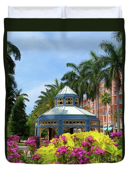 Beautiful Mizner Park In Boca Raton, Florida. #3 Duvet Cover
