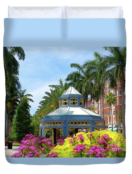 Beautiful Mizner Park In Boca Raton, Florida. #4 Duvet Cover