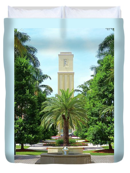Beautiful Mizner Park In Boca Raton, Florida. #5 Duvet Cover