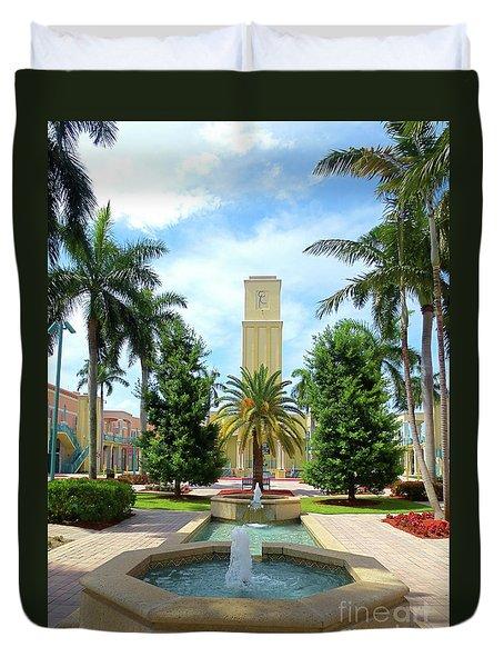 Beautiful Mizner Park In Boca Raton, Florida. #6  Duvet Cover