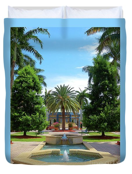 Beautiful Mizner Park In Boca Raton, Florida. #8 Duvet Cover