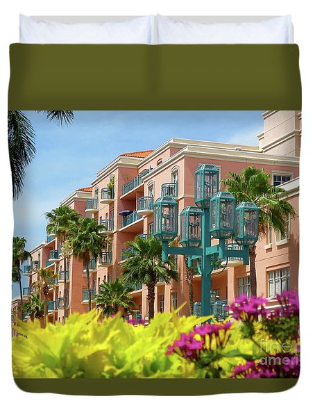 Beautiful Mizner Park In Boca Raton, Florida. #9 Duvet Cover