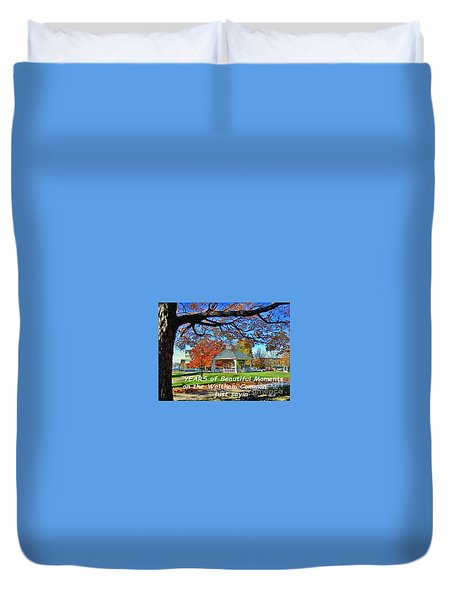 Duvet Cover featuring the painting Beautiful Moments On The Waltham Common by Rita Brown
