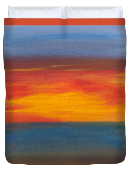 Beautiful Morning Duvet Cover by Bonnie Rabert