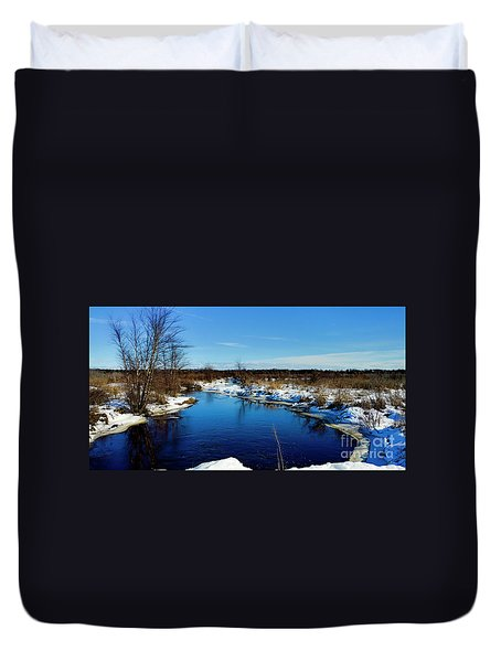 Beautiful Necedah Wildlife Refuge  Duvet Cover by Ricky L Jones