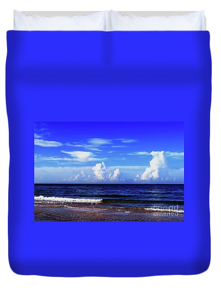 Duvet Cover featuring the photograph Beautiful Ocean View by Gary Wonning