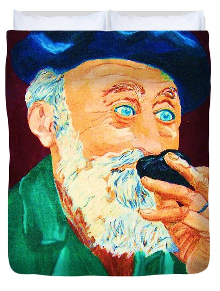 Beautiful Old Blue Eyes Duvet Cover by Carole Spandau