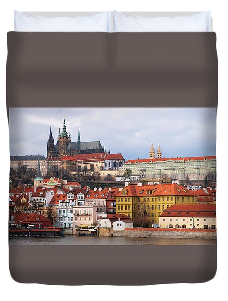 Duvet Cover featuring the photograph Beautiful Old Prague by Jenny Rainbow