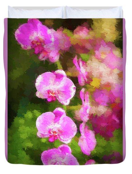 Beautiful Orchids Duvet Cover
