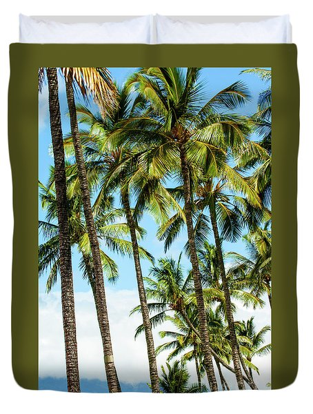 Duvet Cover featuring the photograph Beautiful Palms Of Maui 16 by Micah May