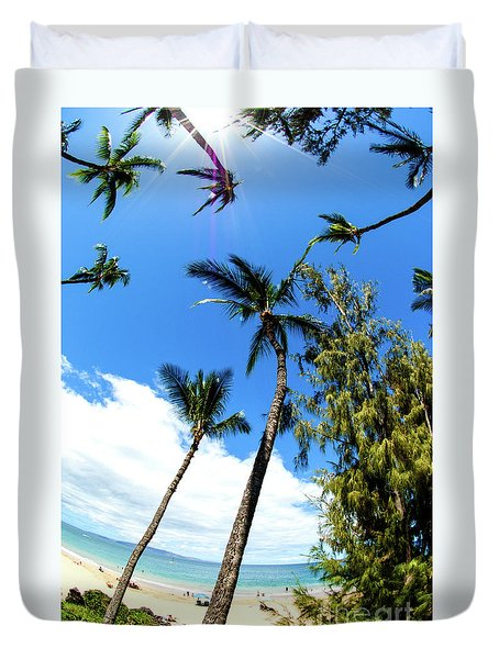 Duvet Cover featuring the photograph Beautiful Palms Of Maui 17 by Micah May