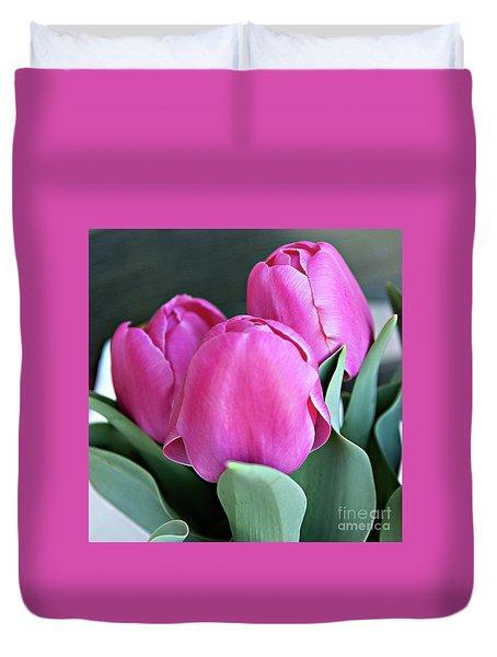 Beautiful Pink Lipstick Duvet Cover