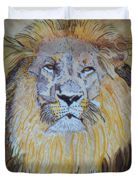 Beautiful Pose Of The King Duvet Cover by Connie Valasco