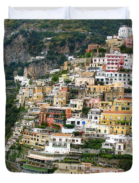Beautiful Positano Duvet Cover