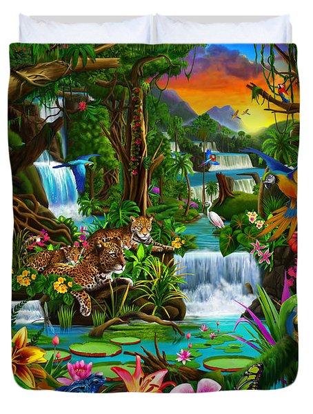 Beautiful Rainforest Duvet Cover by Gerald Newton