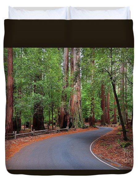 Beautiful Redwood Grove Duvet Cover