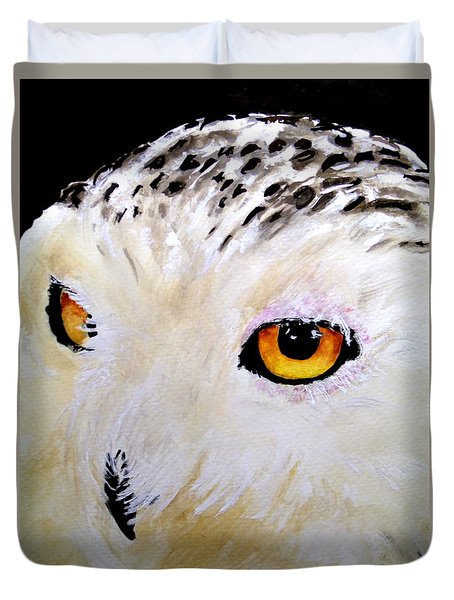 Beautiful Snowy Owl Duvet Cover