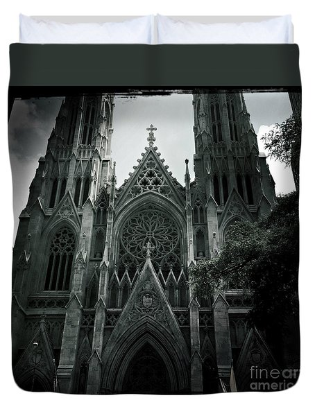 Beautiful St Patricks Cathedral Duvet Cover by Miriam Danar
