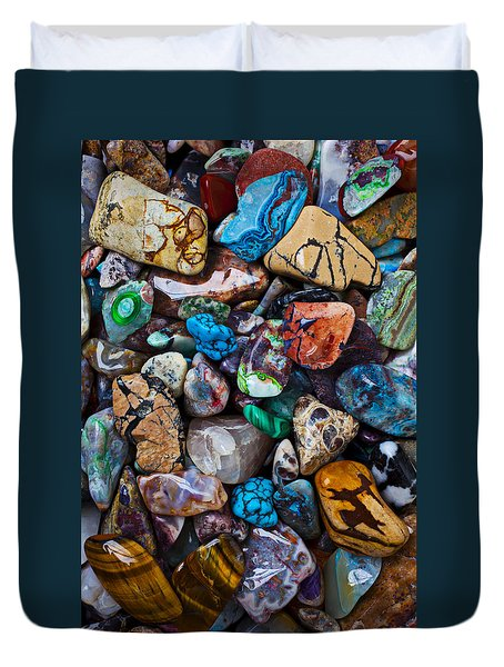 Beautiful Stones Duvet Cover by Garry Gay