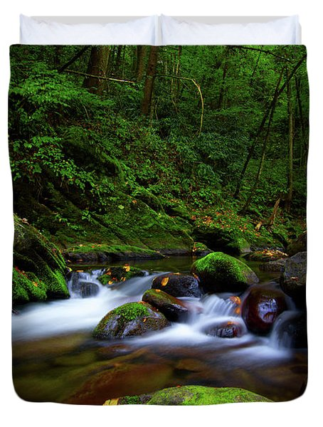 Beautiful Stream In Tremont Smoky Mountains Tennessee Duvet Cover
