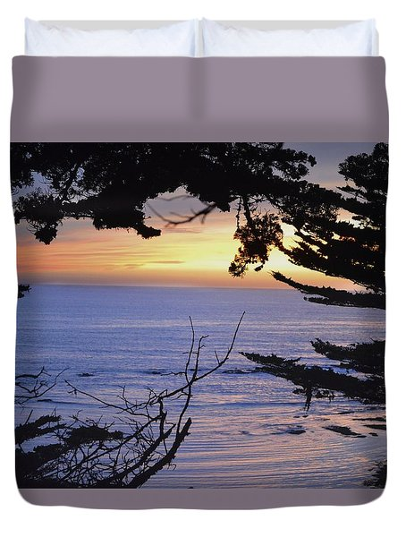 Duvet Cover featuring the photograph Beautiful Sunset by Alex King