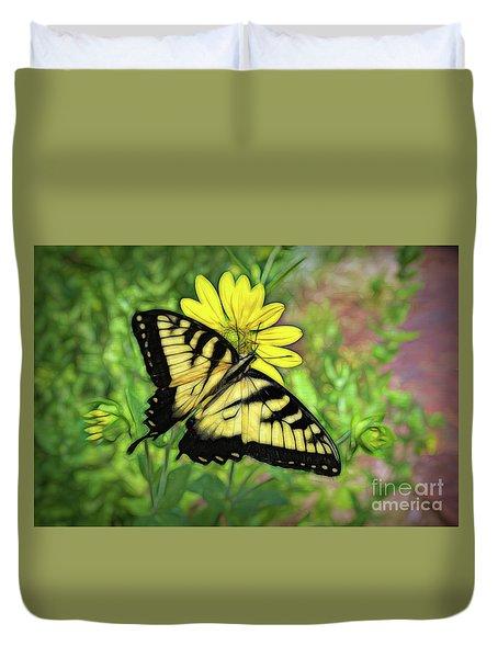 Beautiful Swallowtail Butterfly Duvet Cover