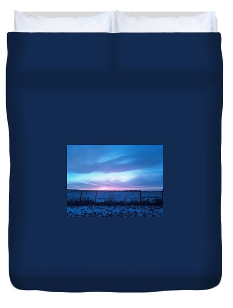 Beautiful Texas Sunset Duvet Cover