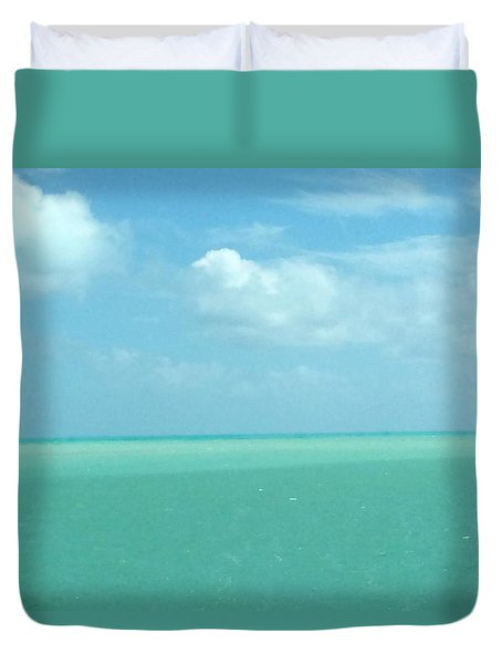 Duvet Cover featuring the photograph Beautiful Waters by Robin Regan