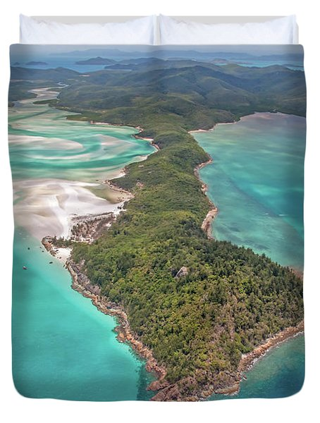 Duvet Cover featuring the photograph Beautiful Whitsundays by Az Jackson