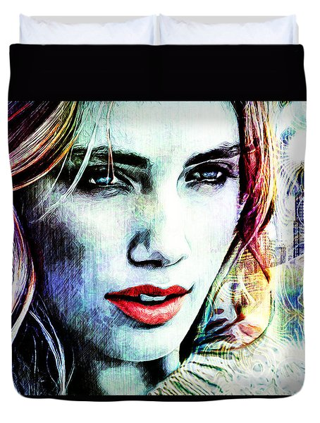Beautiful Woman Duvet Cover